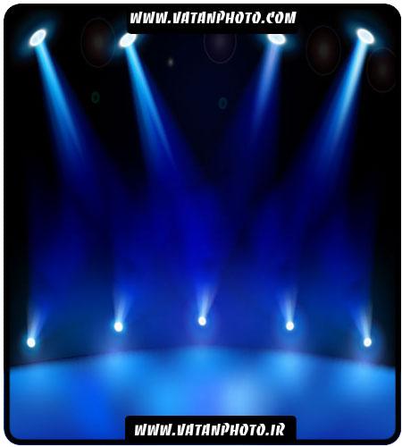 وکتور صحنه تئاتر با نور پردازی