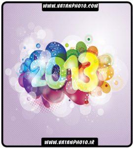 وکتور با کیفیت طرح 2013