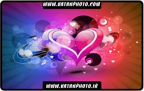 وکتور بگراند عاشقانه با طرح قلب