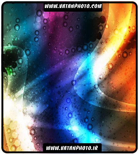 وکتور بگراند رنگارنگ با طرح نور