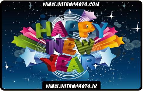وکتور بگراند تبریک سال نو