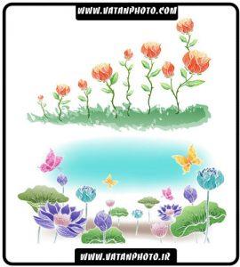 مجموعه 10 وکتور گل فانتزی