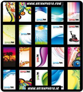 مجموعه 20 وکتور کارت ویزیت با کیفیت
