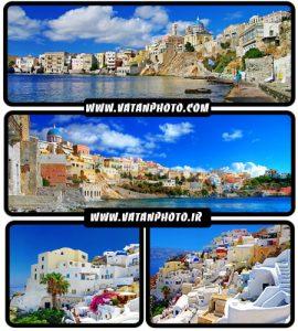تصاویر  جذاب از شهر گردشگری Greece - شاتر استوک