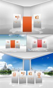 طرح لایه باز سه بعدی دکوراسیون داخلی psd