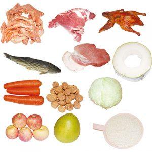 مجموعه آیکن مواد پروتئینی و میوه