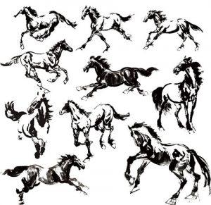 آیکن اسب در حالت های گوناگون