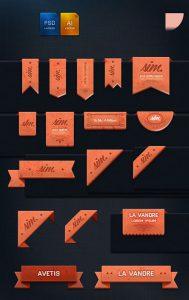 آیکن برچسب طراحی تبلیغاتی