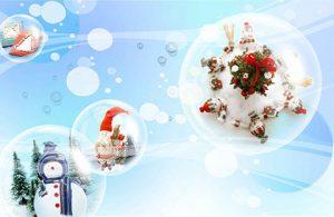 بکگراند فانتزی کریسمس