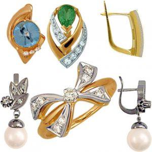 آیکن سینه ریز و گوشواره طلا و جواهر