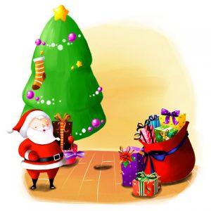 طرح کارتونی بابانوئل و کریسمس