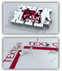پروژه آماده افتر افکت لوگو سه بعدی