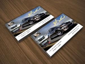 طرح کارت ویزیت نمایشگاه اتومبیل psd