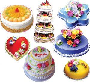 مجموعه آیکن کیک خامه ای