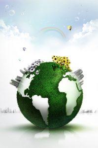 طرح سه بعدی کره زمین سر سبز