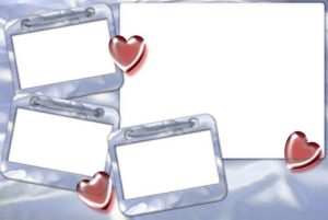 طرح قاب عکس 4 فرمه عاشقانه psd
