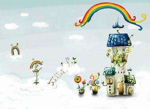 بکگراند فانتزی مهد کودک و طراحی