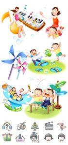 المان بچه های شاد برای مهد کودک