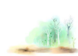 بکگراند نقاشی شده جنگل