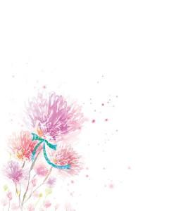 طرح لایه باز بکگراند گل نقاشی شده psd