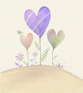 بکگراند کارت پستال عاشقانه قلب