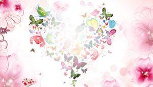 کارت پستال عاشقانه گل فانتزی