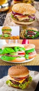 مجموعه 5 عکس همبرگر در سایز 7000x4660