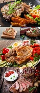 مجموعه 5 عکس استیک گوشت در سایز 7000x4660