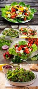 مجموعه 5 عکس سالاد سبزیجات در سایز 7000x4660
