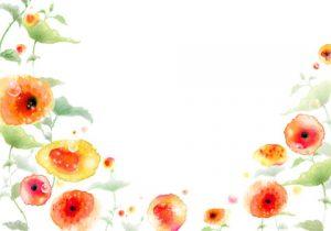 طرح لایه باز بکگراند فانتزی گل شقایق