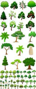 مجموعه درختان فانتزی گرافیکی