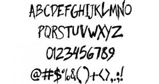 فونت دست خط انگلیسی با فرمت TTF و OTF و WOFF