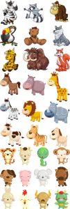 وکتور گرافیکی کارتونی حیوانات