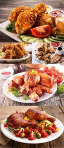 مجموعه 5 عکس مرغ سرخ شده و سخاری 7000x4660