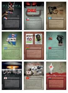 مجموعه پوستر نمایشگاهی سلطه سنگین شیطان در جهان
