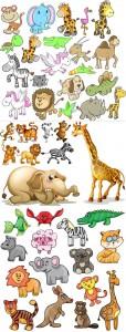 مجموعه کاراکتر حیوانات فانتزی AI و TIF