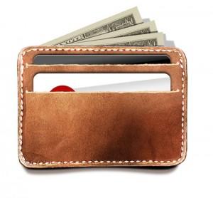 طرح لایه باز کیف کارت و پول چرم psd