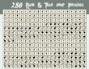 مجموعه 280 براش اشکال قطرات