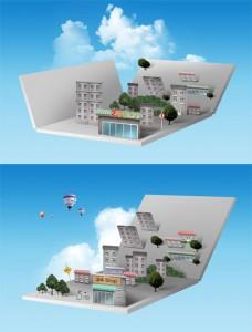 طرح لایه باز نمای شهر سازی psd
