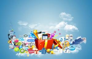 طرح لایه باز جایزه های اینترنتی psd