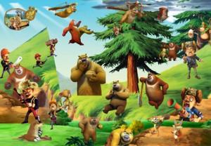 آیکن کارتونی خرس مهربون و شکارچی psd