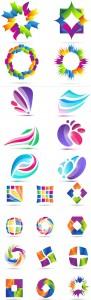 مجموعه لوگو رنگارنگ گرافیکی AI و TIF