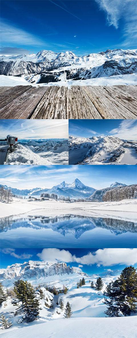 دانلود مجموعه عکس کوهستان برفی 8000x5334
