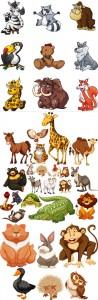 آیکن حیوانات فانتزی گرافیکی ترانسپارنت AI و TIF