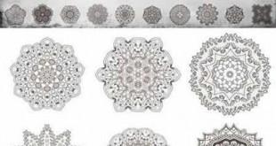 مجموعه وکتور گلبوته و طرح اسلیمی eps و png