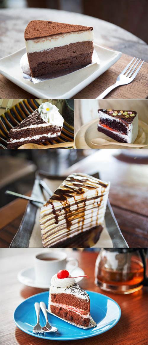مجموعه عکس کیک شکلاتی و خامه ای 7000x4667