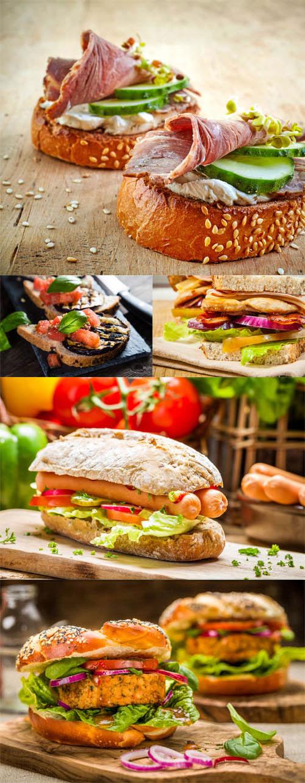 عکس استوک انواع ساندویچ ۷۰۰۰×۴۶۶۷