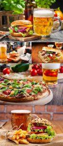 عکس پیتزا و ساندویچ با نوشیدنی ۷۰۰۰×۴۶۶۷
