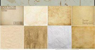 مجموعه وکتور با کیفیت کاغذ قدیمی EPS