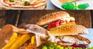 عکس ساندویچ و پیتزا و سیب زمینی ۷۰۰۰×۴۶۶۷